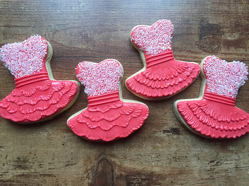 Ballerina themed cookies