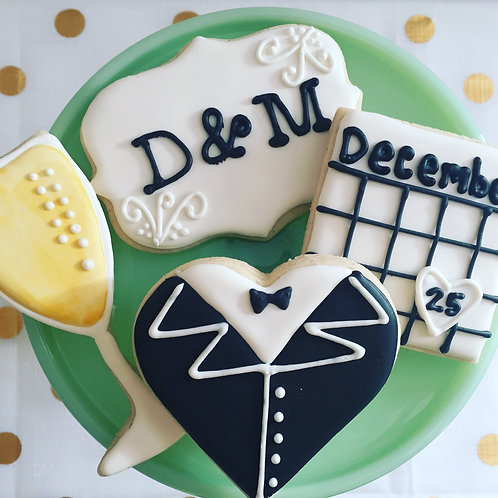 Engagement, wedding or celebration cookies