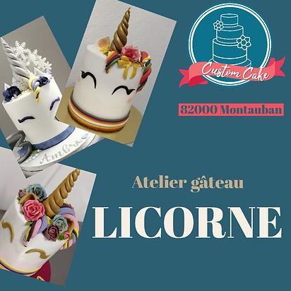 Atelier Gâteau licorne