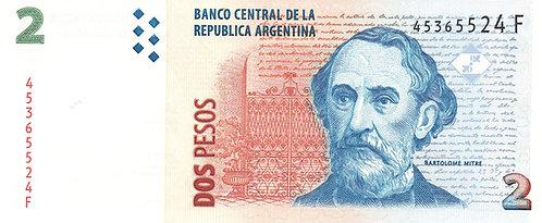 Argentina, 2 Pesos