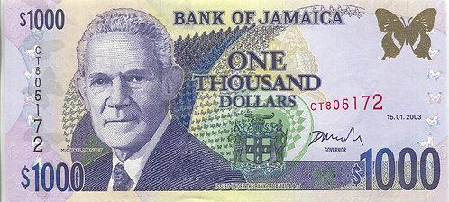 Jamaica, 2003, 1000 Dollars
