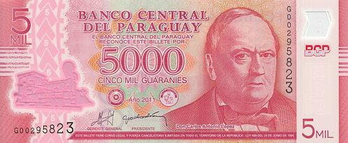 Paraguay, 2013 [2011], 5000 Guaranies