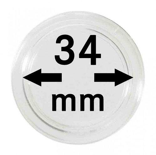 COIN CAPSULES 34 MM Ø INNER DIAMETER
