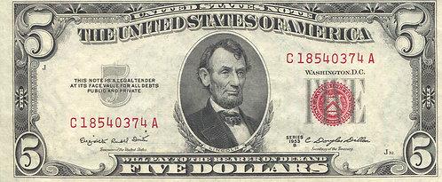 U.S.A. 1953, 5 Dollars