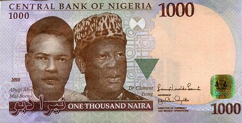 Nigeria, 2010, 1000 Naira