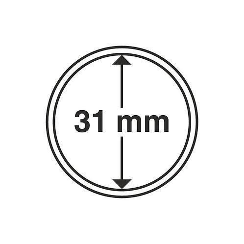 Coin Capsules, 31MM Ø inner diameter