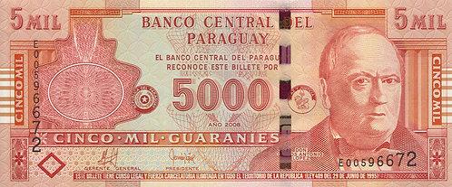 Paraguay, 2008, 5000 Guaranies