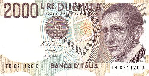 Italy, 1990, 2000 Lire