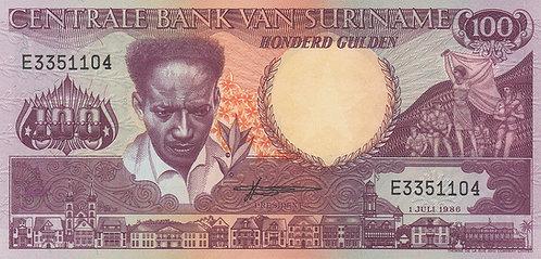 Suriname, 1986, 100 Gulden