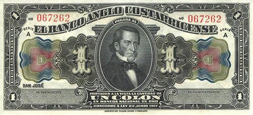 Costa Rica, 1917, 1 Colone