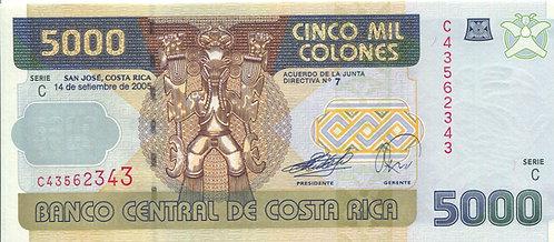 Costa Rica, 2005, 5000 Colones