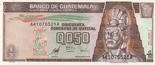 Guatemala, 1998, 1/2 Quetzal