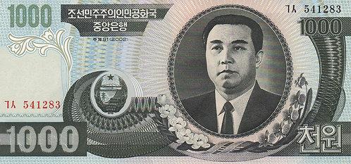 North Korea, 2002, 1000 Won