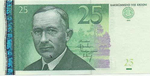 Estonia, 2002, 25 Krooni