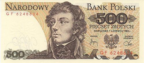 Poland, 1982, 500 Zlotych