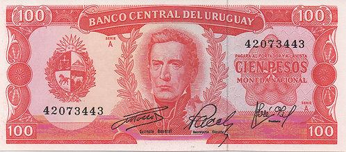 Uruguay,1967, 100 Pesos