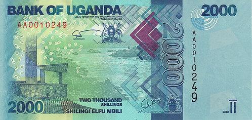 Uganda, 2010, 2000 Shilings