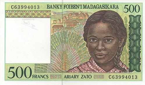 Madagascar, 1994, 500 Francs