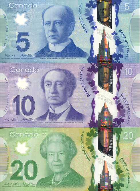 Canada, 2013, 5-100 Dollars, Set (5pcs), Polymer