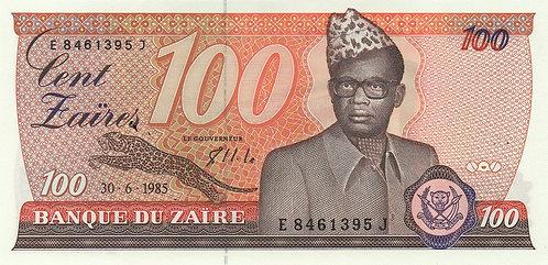 Zaire, 1985, 100 Zaires