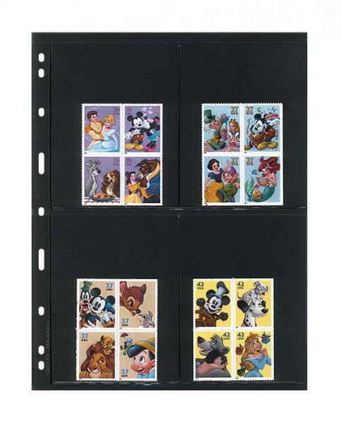 LINDNER UNIPLATE 4 Pockets (97 X 128 MM) 5 Sheets