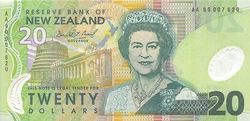 New Zealand, 1999, 20 Dollars, Polymer
