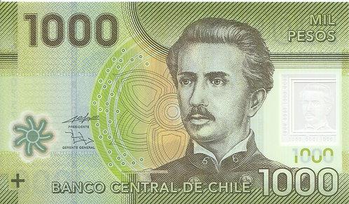 Chile, 2010, 1000 Pesos, Polymer