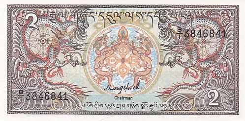 Bhutan, 1986, 2 Ngultrum