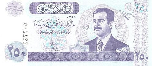 Iraq, 2002, 250 Dinars
