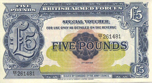 Great Britain Military, 5 Pounds, 2nd Series Special Vouchers