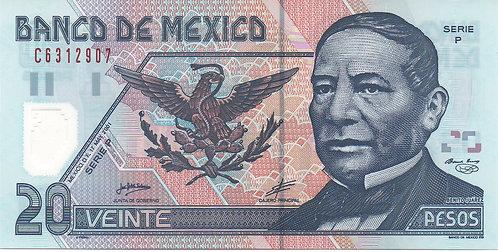Mexico, 2001, 20 Pesos, Polymer