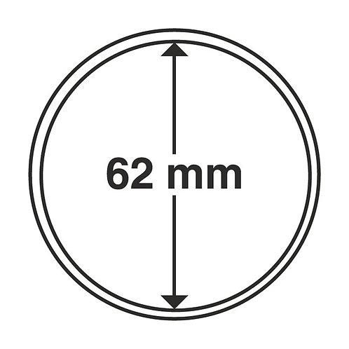 Coin Capsules, 62MM Ø inner diameter