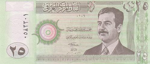 Iraq, 2001, 25 Dinars