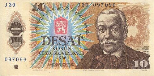 Czechslovakia, 1986, 10 Korun