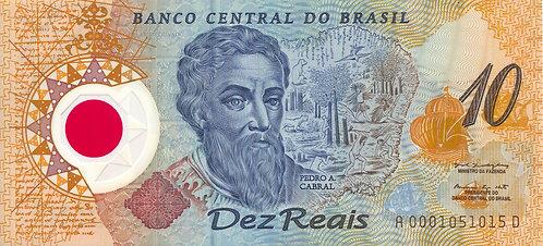 Brazil, 2000, 10 Reails, Polymer