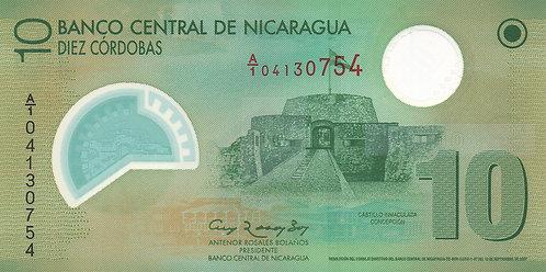 Nicaragua, 2009, 10 Cordobas, Polymer
