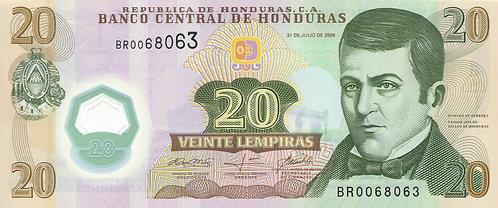 Honduras, 2010, 20 Lempiras, Polymer