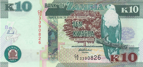 Zambia, 2013, K10 Kwacha
