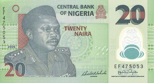 Nigeria, 2006, 20 Naira, Polymer, (6 Digit)