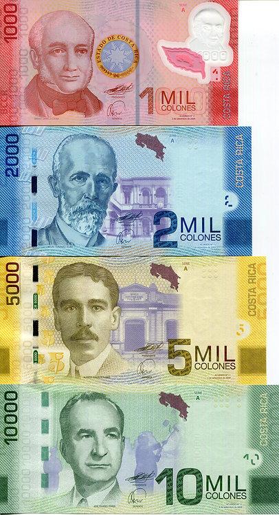 Costa Rica, 2010, 1000-50,000 Colones, Set (6pcs)