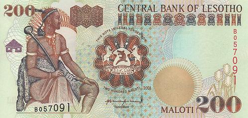 Lesotho, 2001, 200 Maloti