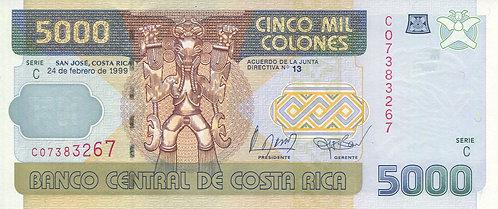 Costa Rica, 1999, 5000 Colones