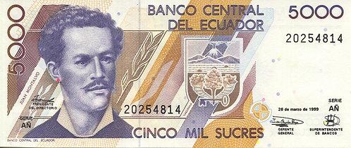 Ecuador, 1987, 5000 Surces