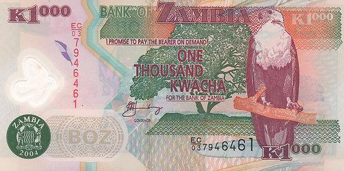 Zambia, 2003, 1000 Kwacha, Polymer