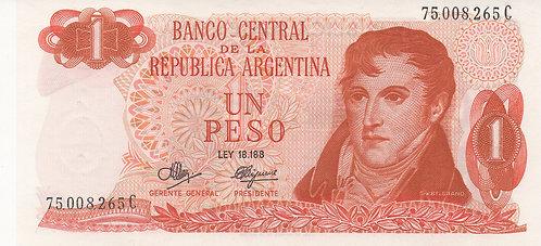 Argentina, 1970-1973, 1 Peso