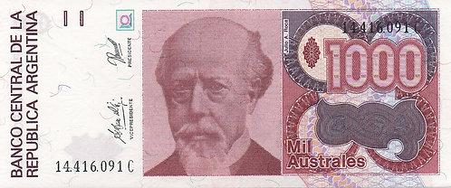 Argentina, 1988-1990, 1000 Australes