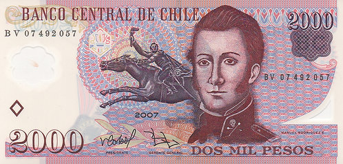 Chile, 2007, 2000 Peso, Sign 2, Polymer