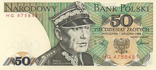 Poland, 1988, 50 Zlotych