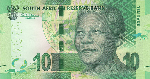 South Africa,10 Rands, with Omron Circle