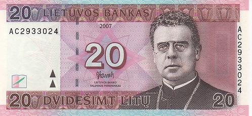 Lithuania, 2007, 20 Litu